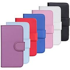 nubuk bőr pénztárca kártya sima pu állvánnyal Samsung Galaxy S2 i9100 (vegyes színek)