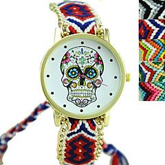 mode exquise de hand geweven etnische stijl schedel horloges