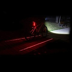 Bike Andre Fjellsykkel / Sykkel med fast gir LED Light Svart Plast