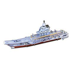 DIY krigsskib formet 3d puslespil (8 ps)