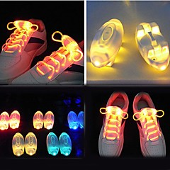 Light Up Shoe Laces Glow Stick LED Shoes Shoelaces Dark Wedding Party DISCO (Assorted Color)