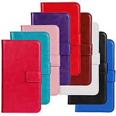 Varten Nokia kotelo Lomapkko / Korttikotelo / Tuella Etui Kokonaan peittävä Etui Yksivärinen Kova Tekonahka Nokia Nokia Lumia 520
