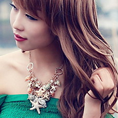Fashion Women Alloy/Imitation Pearl/Resin/Cowry Necklace Choker Necklaces Daily/Casual(Conch Random)