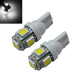 T10 Luci da arredo 5 SMD 5050 70-90lm lm Luce fredda DC 12 V 2 pezzi