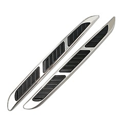 abs de voiture universel chrome style autocollants simulation vents requin branchies décoratifs allongés évents latéraux de sortie