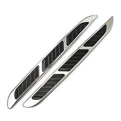 보편적 인 자동차 ABS 크롬 스타일링 스티커 시뮬레이션 장식 상어 아가미 연장 출구 측 통풍구 통풍구