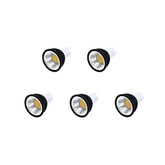 5W GU10 Focos LED MR16 1 COB 450 lm Blanco Cálido / Blanco Fresco / Blanco Natural Regulable AC 100-240 V 5 piezas