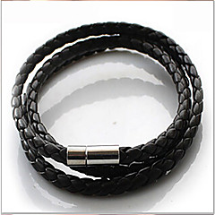 Leather Bracelet Wrap Bracelets Daily/Casual 1pc Jewelry Christmas Gifts