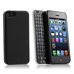 coulissantes clavier bluetooth et étui rigide avec rétro-éclairage pour l'iphone 5 / 5s (noir)