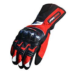 Motorrad-Handschuhe Vollfinger Bambous Carbon Faser L/XL/XXL Rot/Schwarz/Blau
