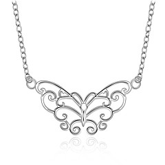 Cremation jewelry 925 sterling silver Hollow Butterfly Pendant Necklace for Women