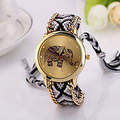 nieuw merk handgemaakte gevlochten olifant vriendschap armband horloge geneva horloge dames Quarzt horloges