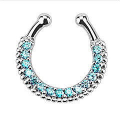 Fashion Stainless Steel  Crystal Nose Ring Body Jewelry Piercing(Random Color)