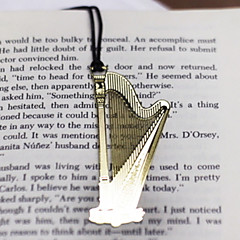 Harp Shaped Stainless Steel Bookmark