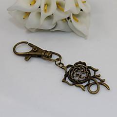 мода унисекс ретро выдалбливают цветок кулон цепочки для ключей
