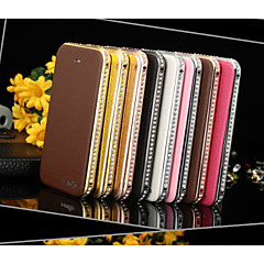 Luxury Diamond Metal frame Magnetic Leather Flip Wallet Case Cover for Latest for iPhone 5S