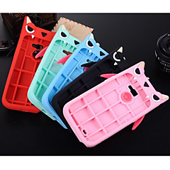 Solid Color The Little Devil Silica Gel Cover With Stand for Samsung Galaxy Note 2/N7100 Case (Assorted Color)