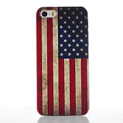 Για Θήκη iPhone 5 Παγωμένη / Με σχέδια tok Πίσω Κάλυμμα tok Σημαία Σκληρή PC iPhone SE/5s/5