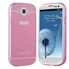 speciell design solid färg metall bakstycket och stötfångaren för Samsung Galaxy S3 i9300 (blandade färger)
