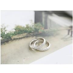 指輪 結婚式 / パーティー / 日常 / カジュアル ジュエリー 合金 女性 / 男性 / 夫婦 ステートメントリング 5 個,5 シルバー