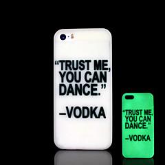 frase padrão brilham no escuro caso difícil para o iphone 5 / iPhone 5 s