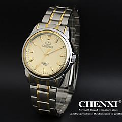 CHENXI® Men's Simple Design Dress Watch Japanese Quartz Water Resistant Steel Strap