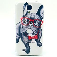 glasögon hund TPU mjuk väska för Samsung Galaxy S4 i9500