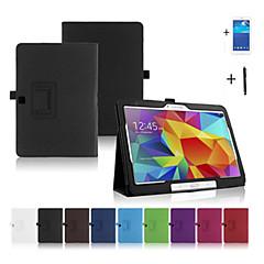 PU Leather Folio Foldable Case Cover for Samsung Galaxy Tab 4 10.1 T530 +Film+stylus