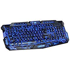 usb dushifangyuan câblé 114-clé style de crack éclaté LED rétro-éclairé clavier de jeu programmable lumineuse