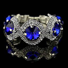 European  Style Full Round Crystal Charm Bracelet Fine Jewelry for Party