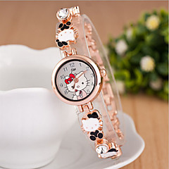 女性のラウンドダイヤルケース合金の時計ブランドのファッションクォーツ時計(より多くの色利用可能)