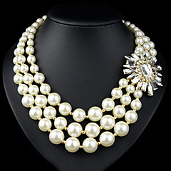 Strands Necklaces ( Pärla/Legering , Vit ) - till Bröllop/Party/Casual