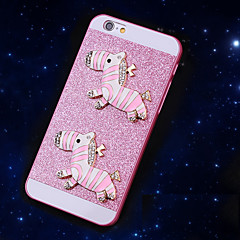 solide bling paillettes course cheval de cas de couverture avec un diamant pour iphone 5 / 5s (couleurs assorties)