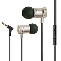 högsta kvalitet legering surroundljud 3.5mm in-ear hörlurar headset för samsung eller andra telefoner