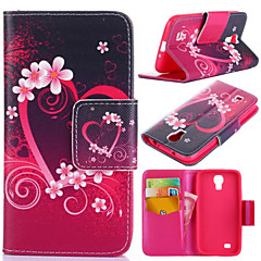 Plum Blossom Pattern with Card Bag Full Body Case for Samsung Galaxy S4 I9500