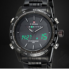 Chrono Stopwatch Alarm Clock Men Full Steel LED Digital Watch Men Quartz Army Military Watches Sport Wristwatch