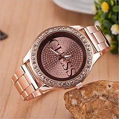 kvinnors rund urtavla fall legering klocka varumärke mode kvarts klocka (mer färg finns)