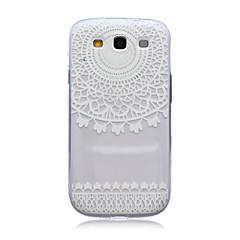 blonder blomster mønster TPU blød bagsiden tilfældet for Samsung Galaxy S3