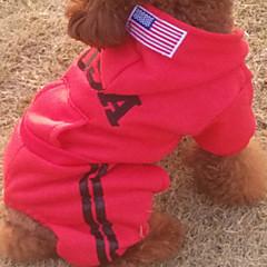 Perros Saco y Capucha / Camiseta Rojo / Negro / Gris Invierno América / EE.UU. Cosplay