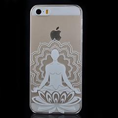 padrão de lótus transparente impressão pc caso de telefone material para iPhone 5 / 5s