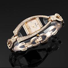 moda de lux bling cristal stras femei doamnă încheietura brățară cuarț brățară ceas trupa schelet