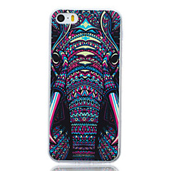 motif tribu d'éléphant TPU couverture souple pour l'iphone 5 / 5s