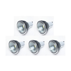 5W GU10 Spot LED MR16 1 COB 450 lm Blanc Chaud / Blanc Froid / Blanc Naturel Gradable AC 100-240 / AC 110-130 V 5 pièces