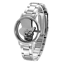 DayBird Personality Skull Style Stainless Steel Band Hollow Out Quartz Watch (Two Colors Options)