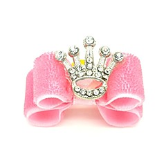 Cat Dog Hair Accessories Hair Bow Dog Clothes Birthday Holiday Tiaras & Crowns Blushing Pink