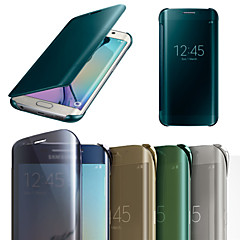 Original Mirror Face Screen Smart Flip Leather Case Cover for Samsung Galaxy S6 Edge