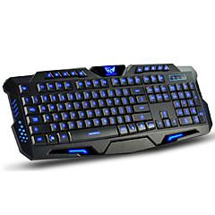 usb dushifangyuan câblé 114-LED de la touche clavier rétro-éclairé de style de jeu programmable lumineuse