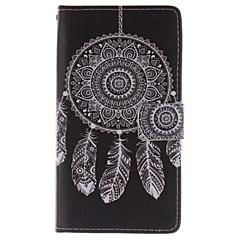 For Samsung Galaxy Note Pung Kortholder Med stativ Flip Etui Heldækkende Etui Drømmefanger Kunstlæder for Samsung Note 4