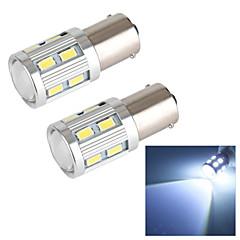 Merdia 1157 18W 250LM Cree 12x5630SMD LED and 1 Condenser Lens White Light Brake Light / Reversing light(2 PCS/12V)