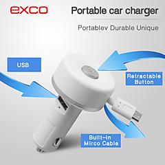iPhone /アプリ/ iPodのための特別なポータブルミニマイクロUSB引き込み式ケーブルカーの充電器(5Vの2.1A)